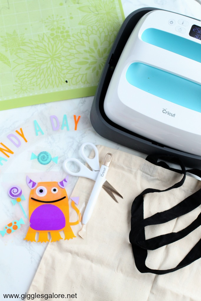 Halloween monster tote cricut easypress