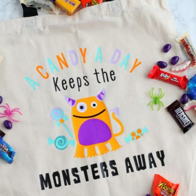 DIY Halloween Monster Tote Bag with Cricut EasyPress