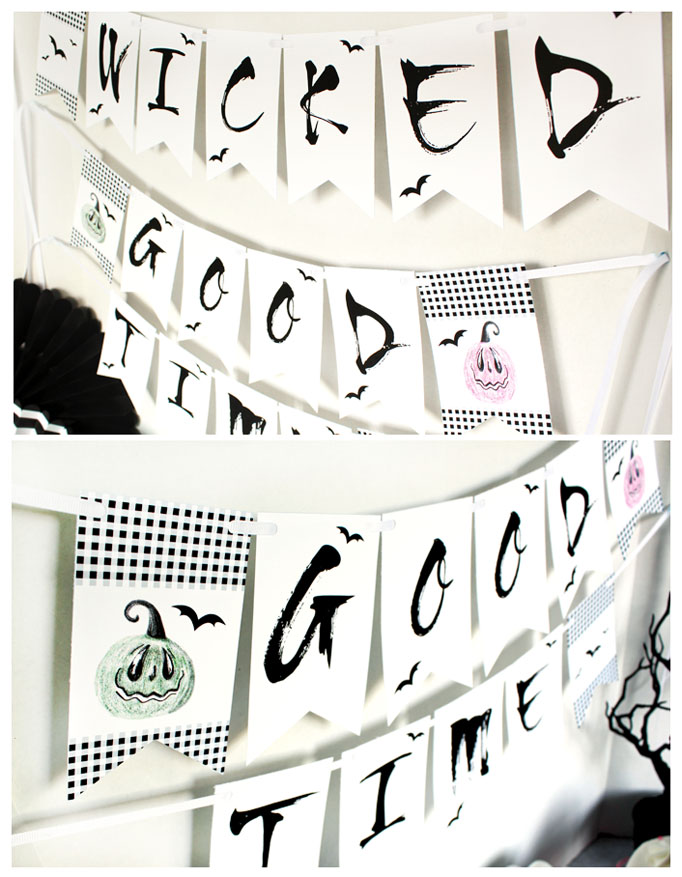 FREE Wicked Good Time Halloween Party Printables