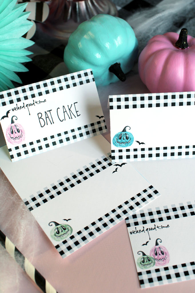 Free Halloween Printable Tent Cards