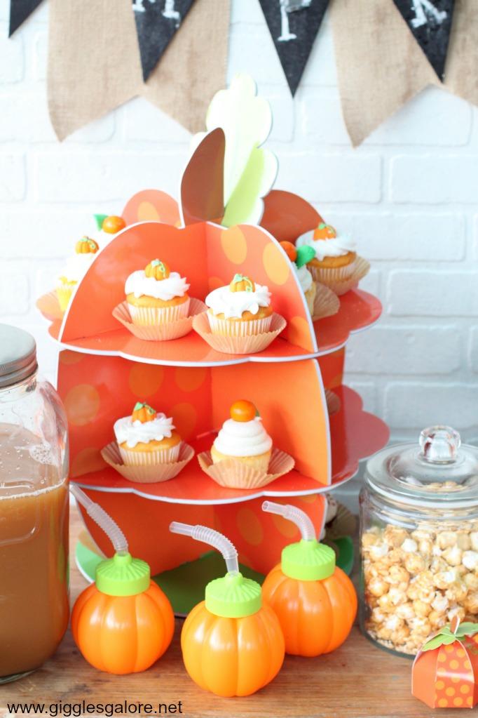 Pumpkin Cupcake Stand