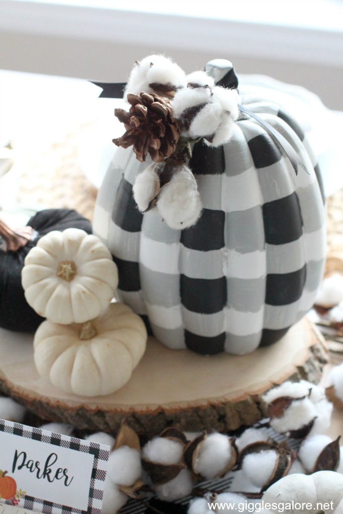 DIY Buffalo Plaid Pumpkin