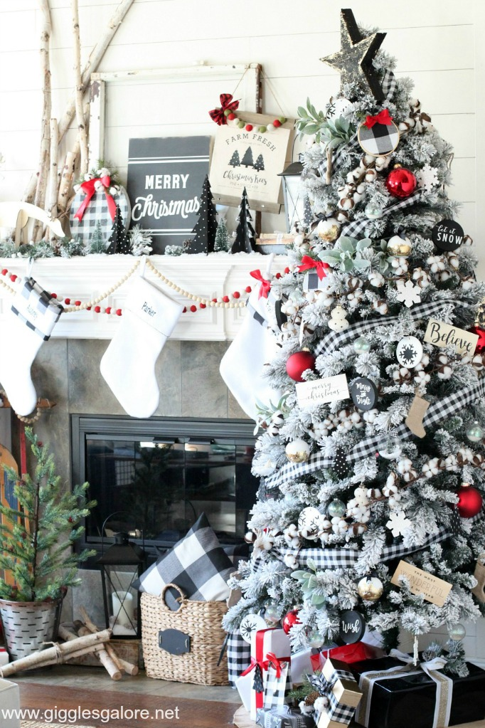 Modern black and white farmhouse christmas decor giggles galore