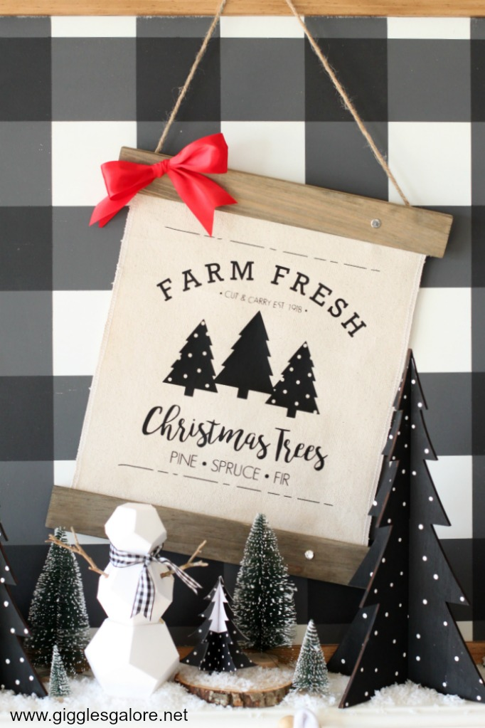 Modern farmhouse holiday decor with cricut maker