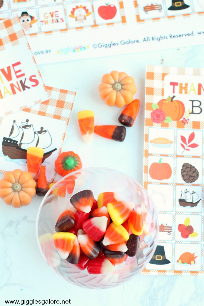 Candy corn markers thanksgiving bingo