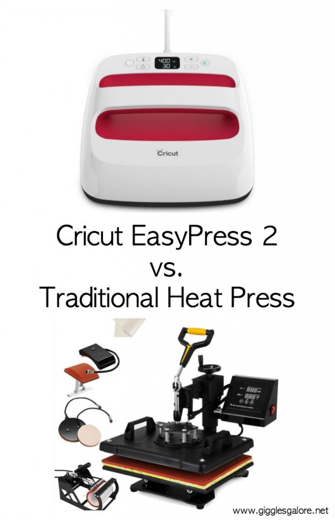 Cricut easypress 2 vs traditional heat press