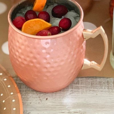 Holiday Cranberry Moscow Mules