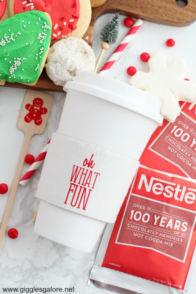 Custom hot cocoa cup sleeves