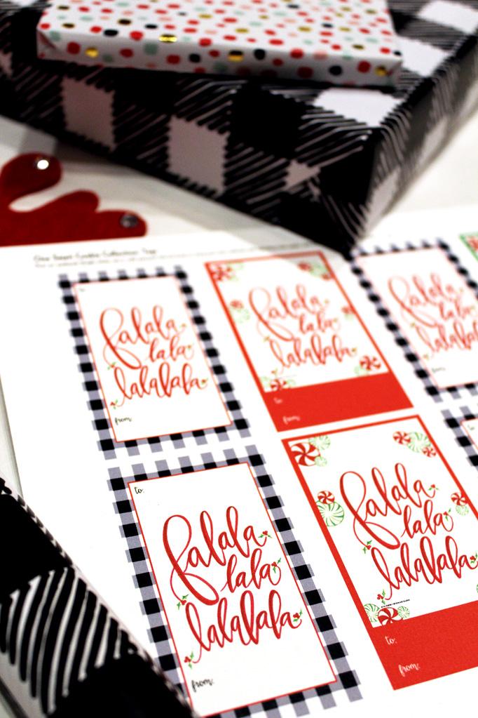 Free Holiday Christmas Printable Tags