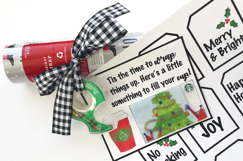 Neighbor gift wrapping kit with free printable tags