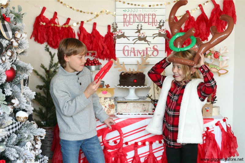 Reindeer games class party antler toss game
