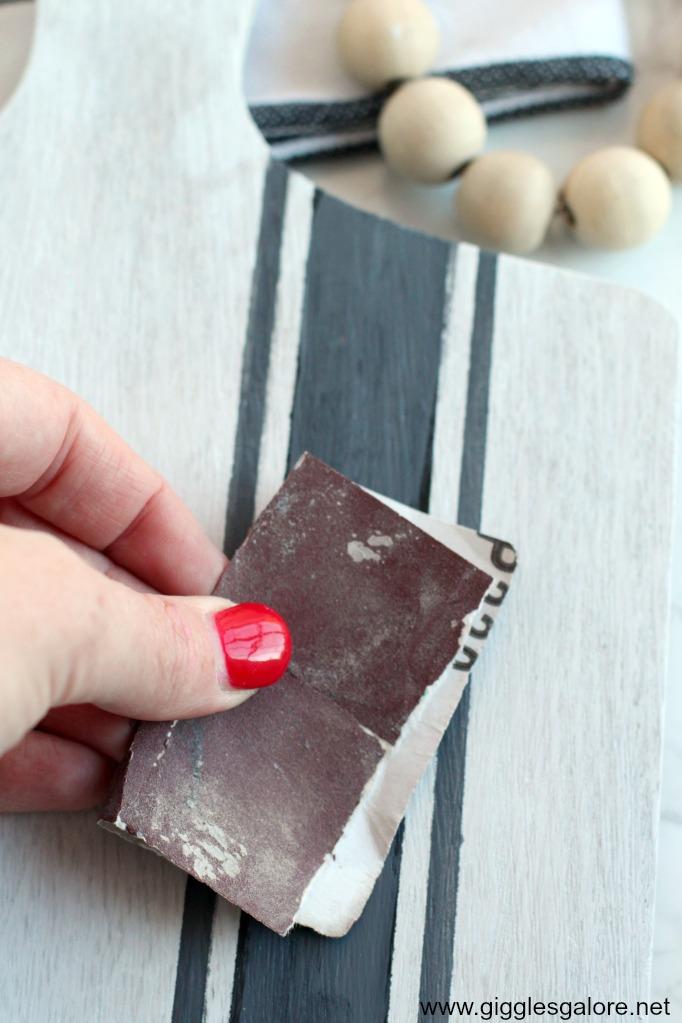 Standpaper grain sack stripes