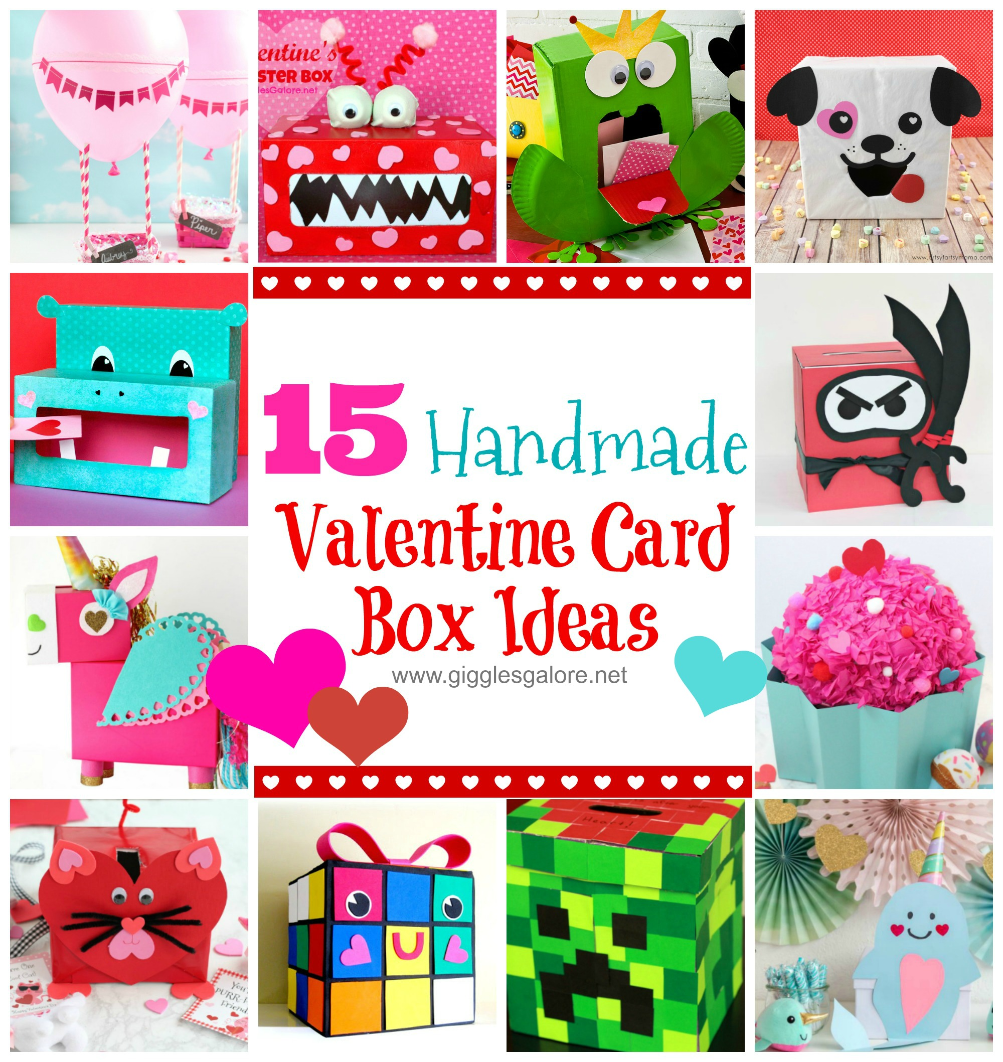 picture about Minecraft Valentine Box Printable known as 15 Do-it-yourself Valentine Box Plans for College or university - Giggles Galore