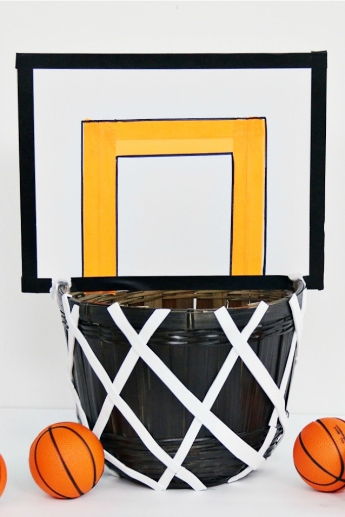 Basketball hoop valentine card box