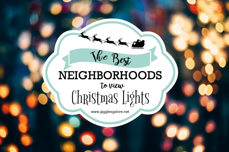 Best neighborhoods to view christmas lights