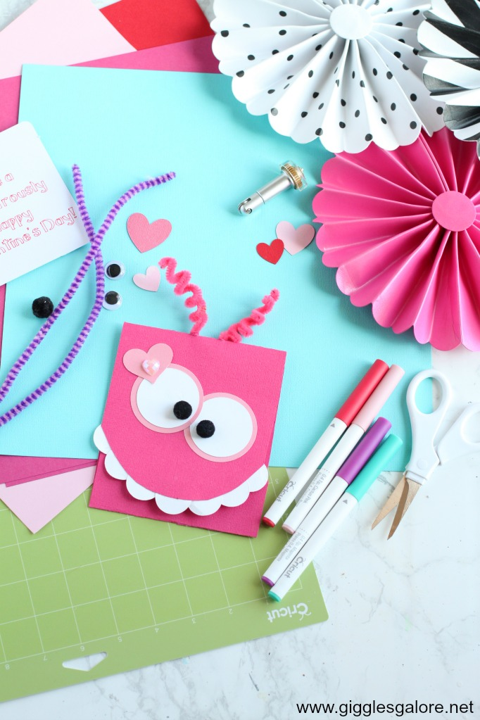 Diy monster valentine card supplies