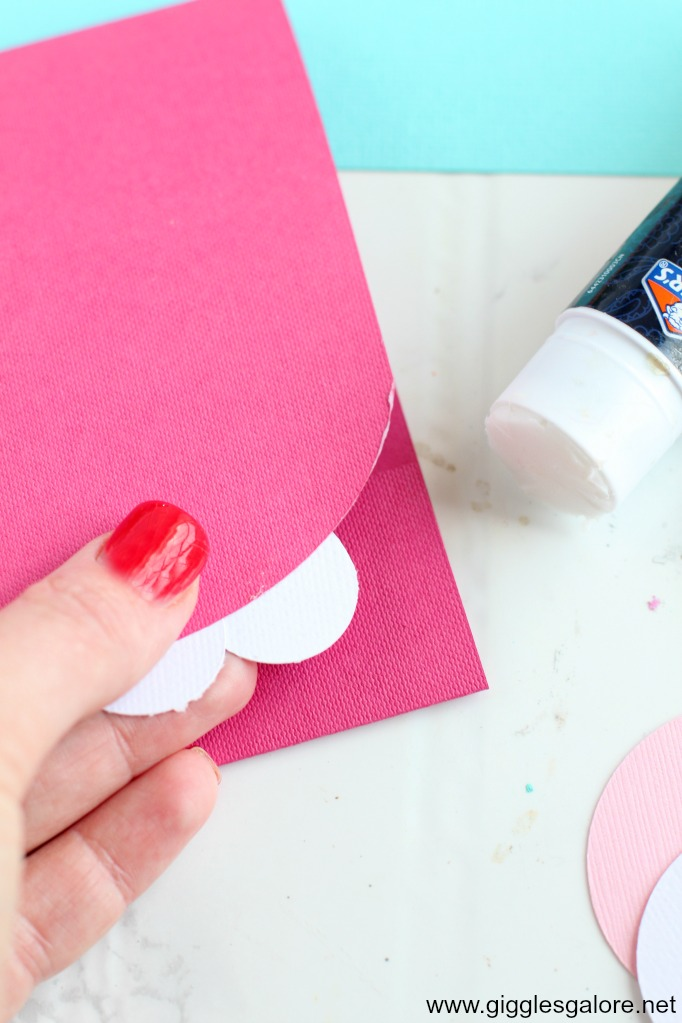 Diy monster valentine card teeth