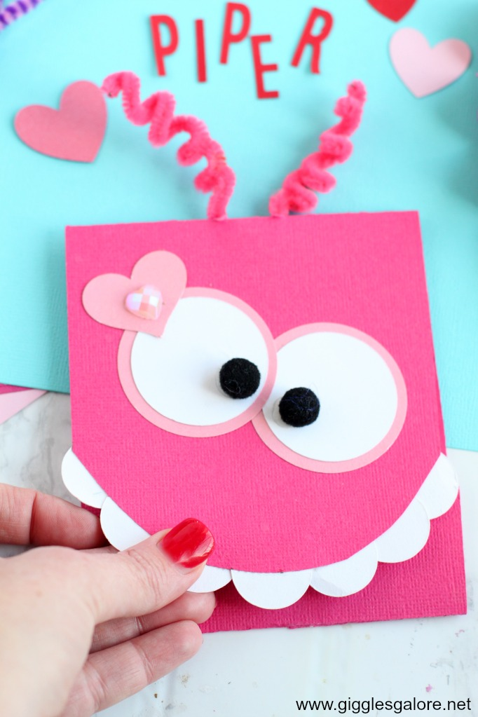 Diy monster valentine paper card