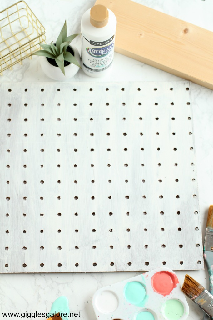 Diy pegboard jewelry organizer step 1