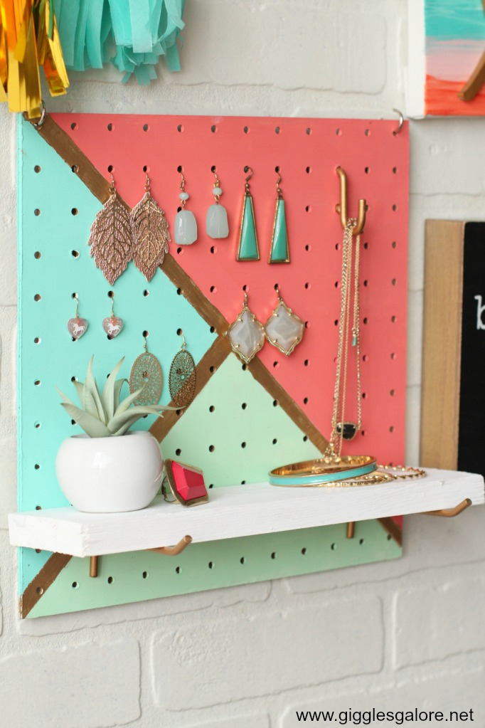 Diy pegboard jewelry organizer step 10