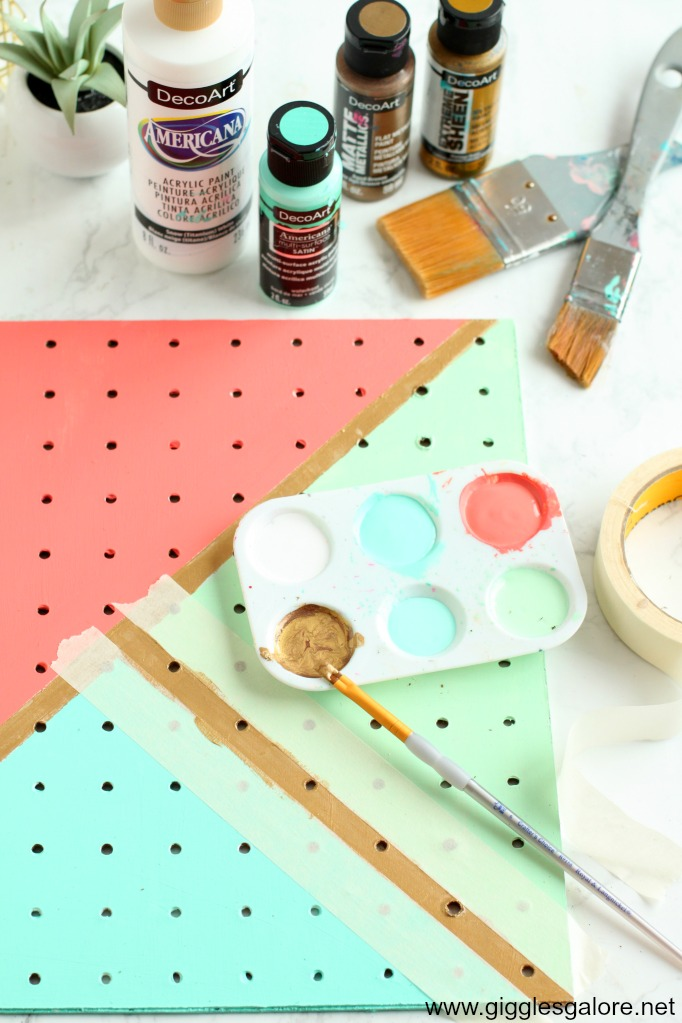 Diy pegboard jewelry organizer step 4