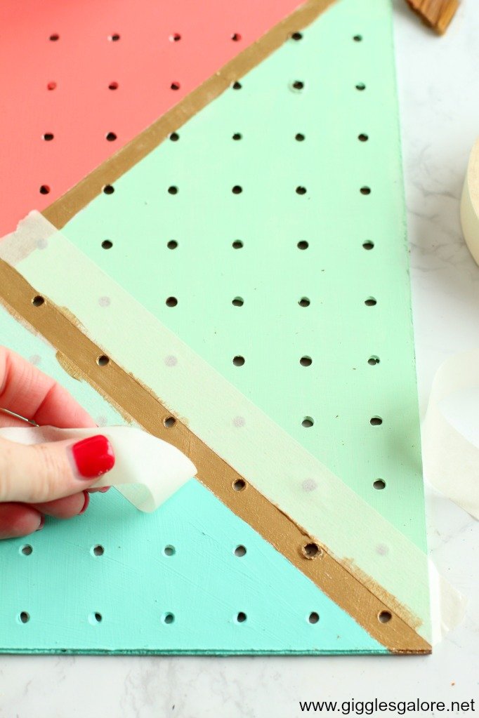 Diy pegboard jewelry organizer step 5