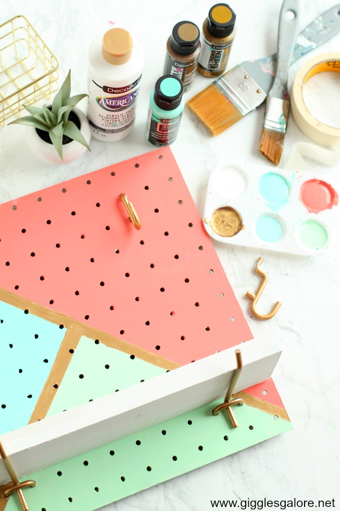 Diy pegboard jewelry organizer step 8