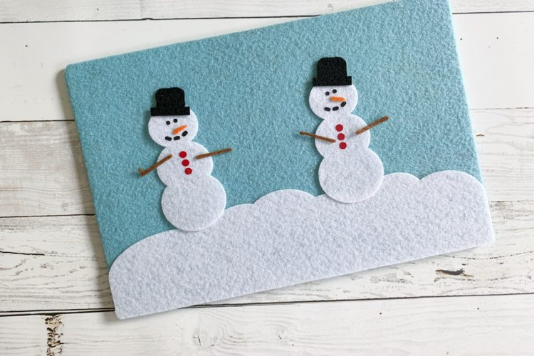 DIY Snowman Felt Board with Cricut Maker