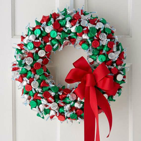 Floracraft hershey kisses holiday wreath