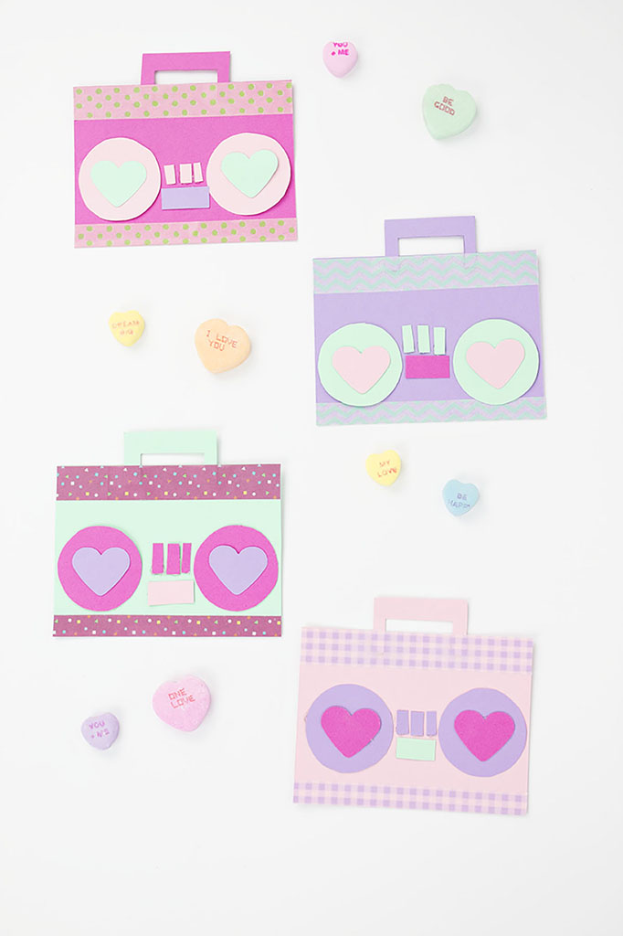 Adorable Paper Craft DIY Boom Box Valentines