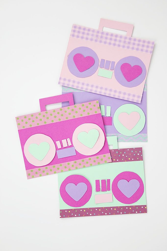 Colorful Radio Valentine Cards