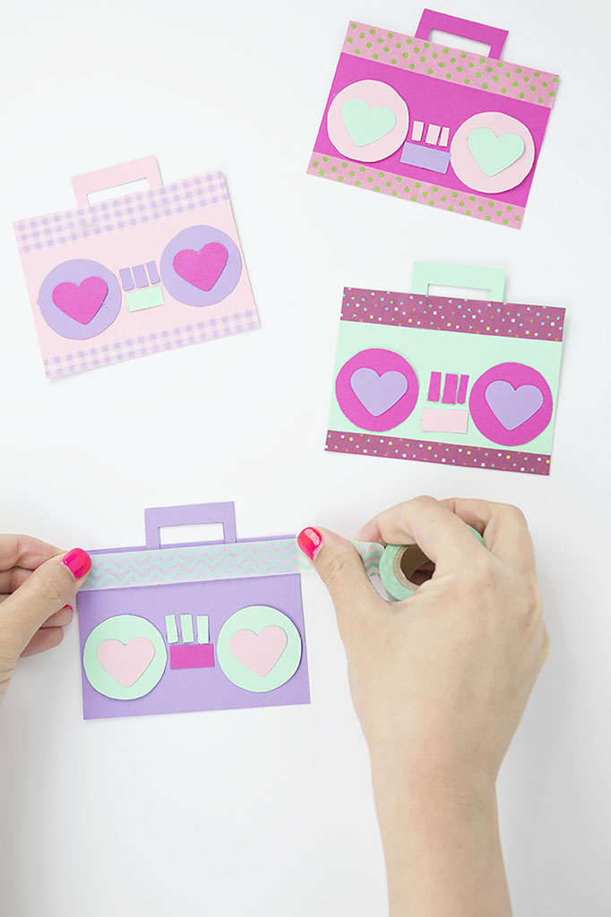 Washi Tape Radio Valentine Craft