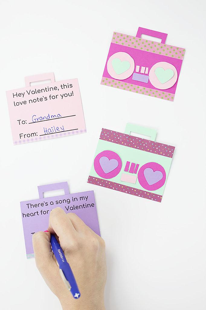 Handmade Boom Box Valentine Cards