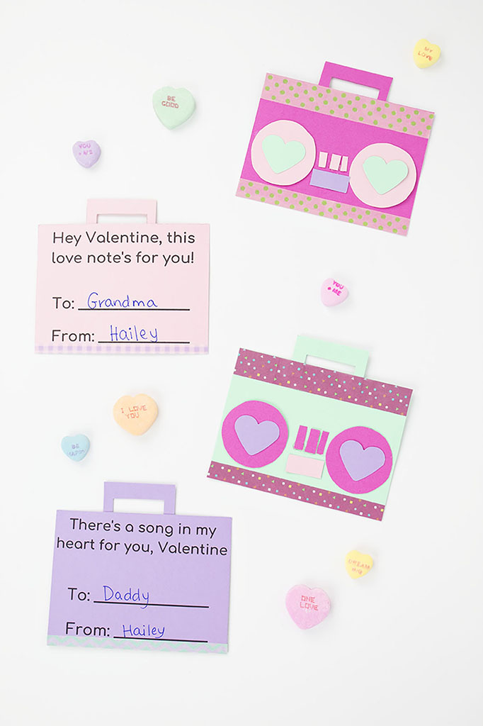 Printable Boom Box Valentine