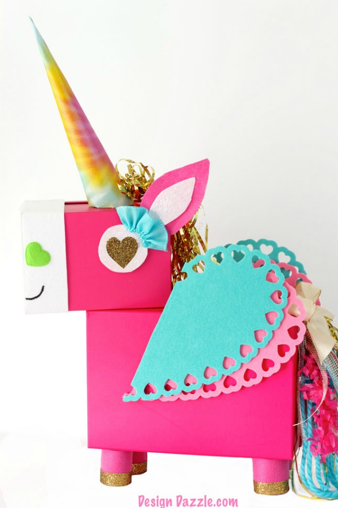 Handmade unicorn valentine box idea