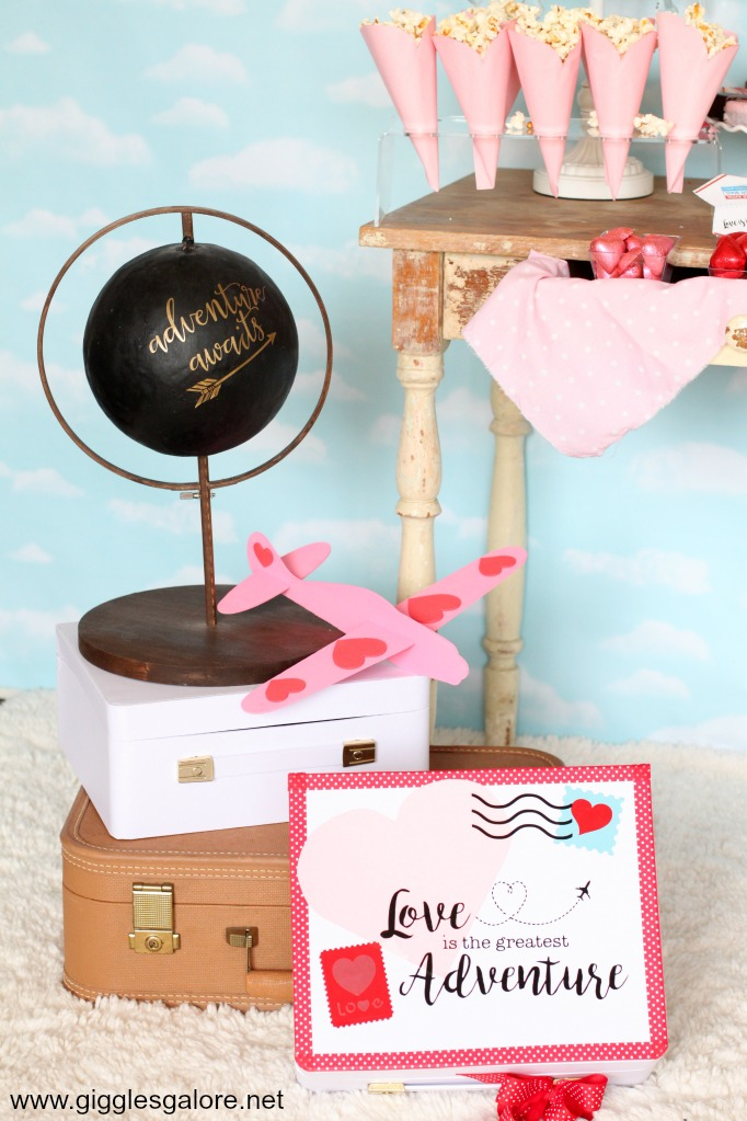 Love is an adventure travel themed party ideas