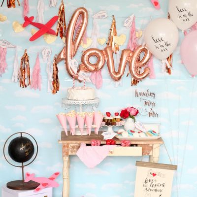 Love is in the Air Airplane Themed Bridal Shower