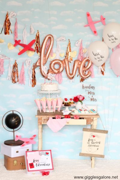 Love is in the air bridal shower party ideas
