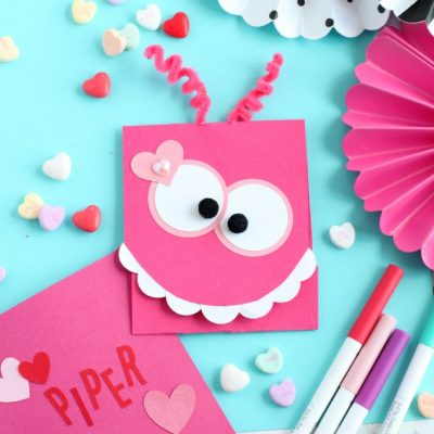 Cute DIY Monster Valentine's Day Card