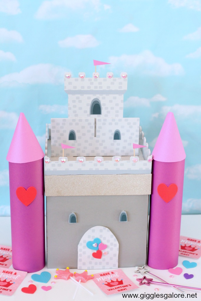 Princess castle valentine card box