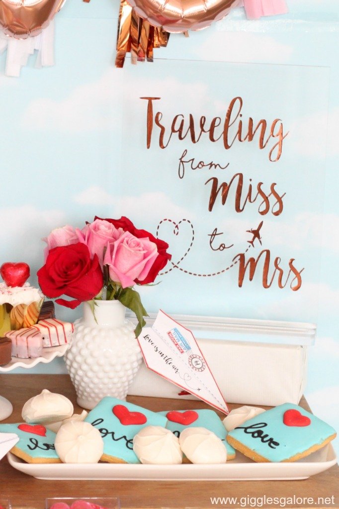 Traveling from miss to mrs vinyl sign