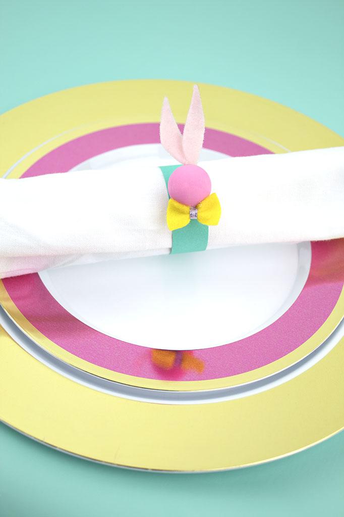 Easter Entertaining DIY Bunny Napkin Rings