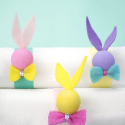 DIY Easter Bunny Napkin Rings