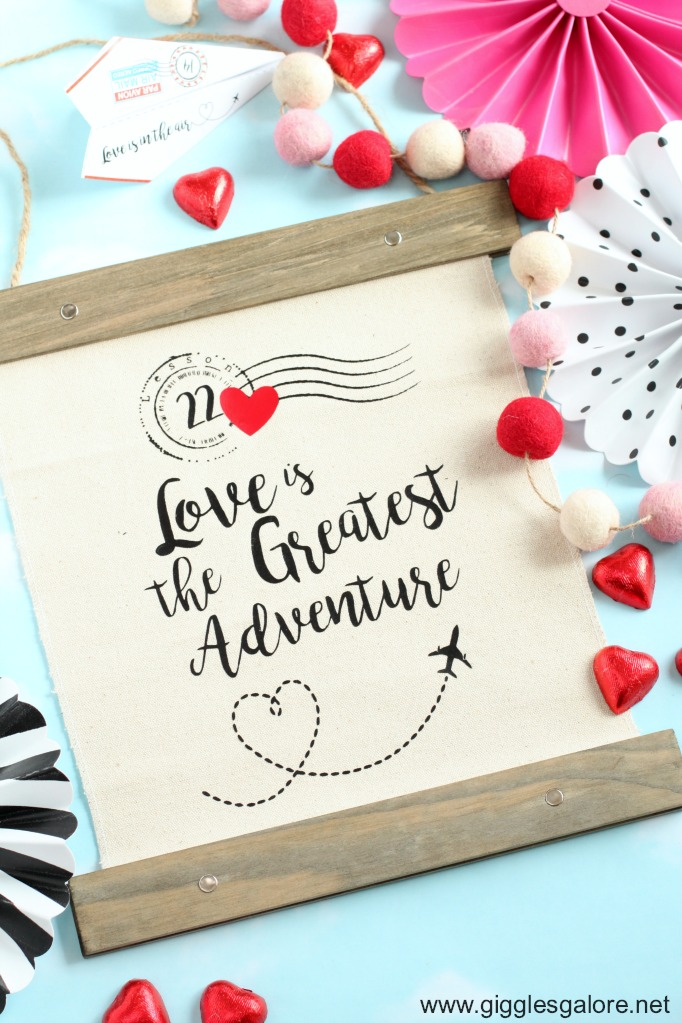 Diy love is the greatest adventure canvas banner giggles galore