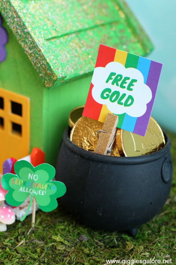 Free gold leprechaun printable