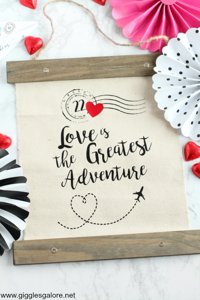 Love is the greatest adventure banner