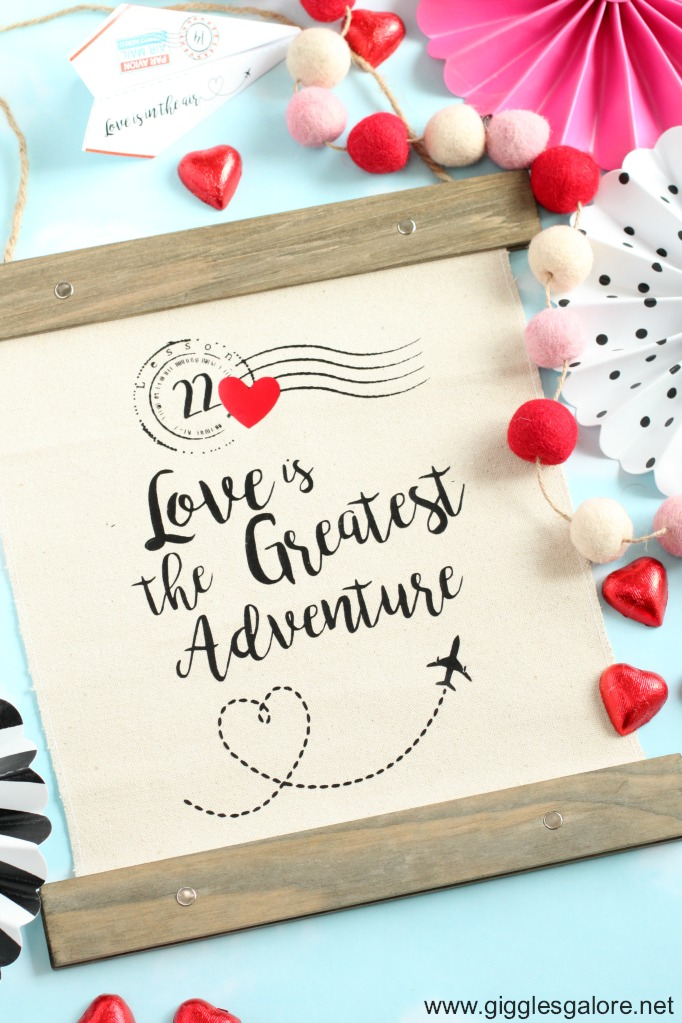 Love is the greatest adventure canvas banner cricut maker
