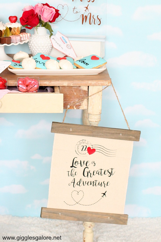 Love is the greatest adventure canvas banner sign