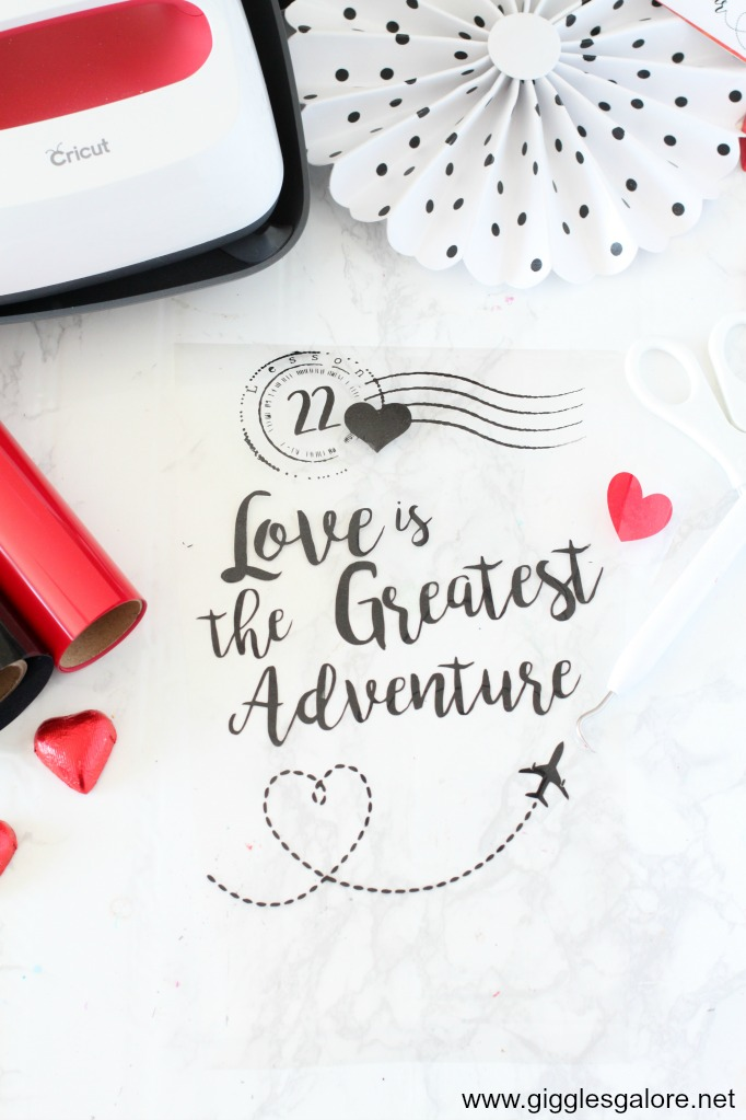 Love is the greatest adventure vinyl saying