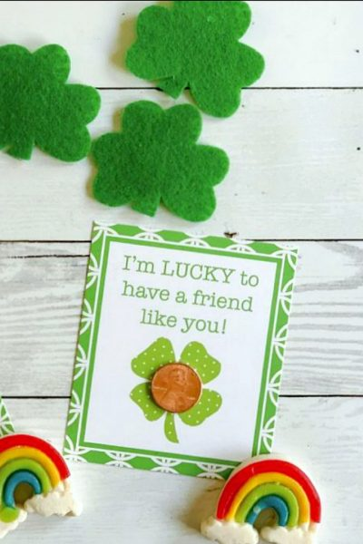 Lucky st patricks day printable tag